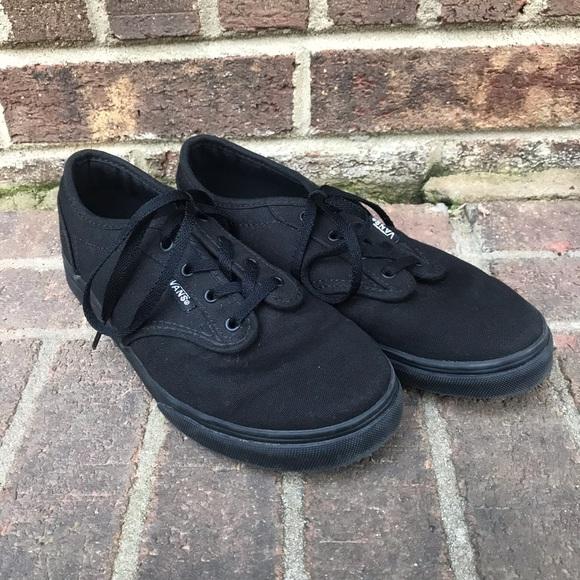 girls all black vans